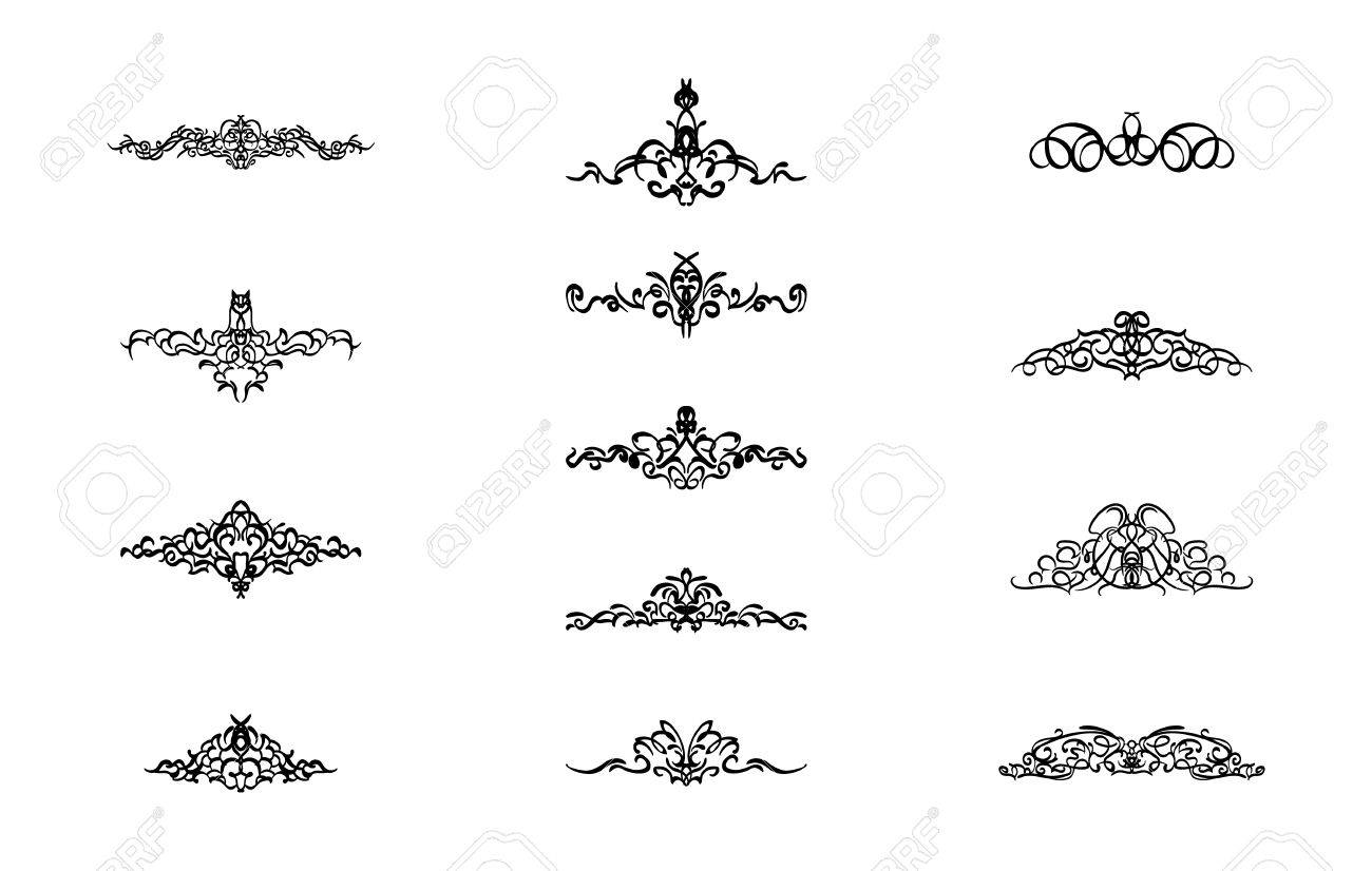 Vintage decor elements and wicker lines in vector decoration vintage decor elements and wicker lines in vector decoration for logos page wedding junglespirit Images