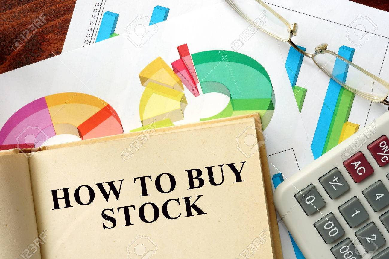 Stock Photo Words How To Buy Stock Written On A Book Business Concept Words  How To