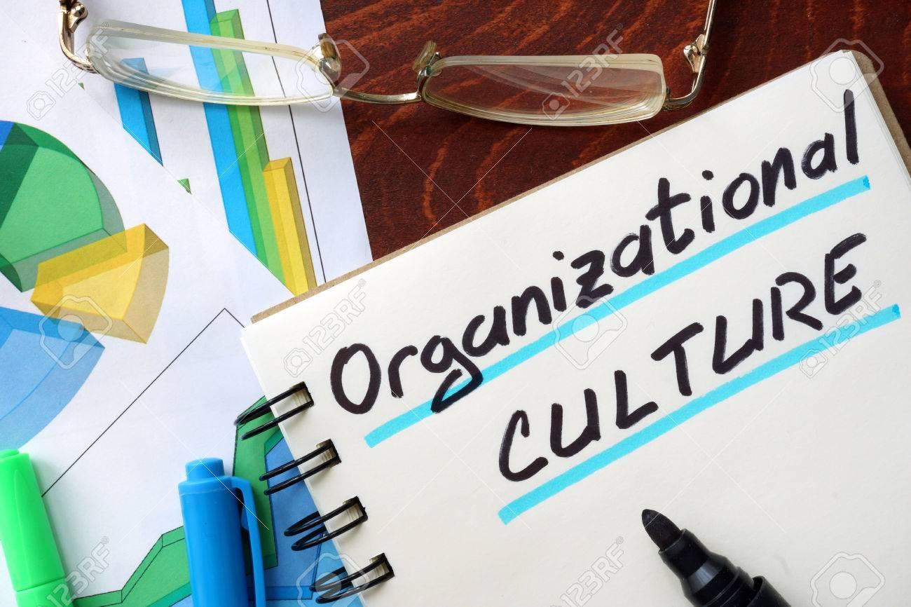 Organizational Culture written in a notepad. Business concept. - 56029647
