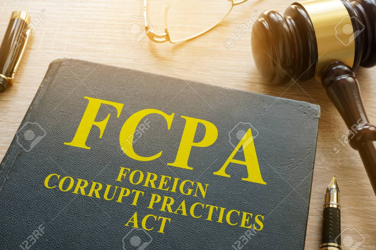 Fcpa Foreign Corrupt Practices Act On A Desk