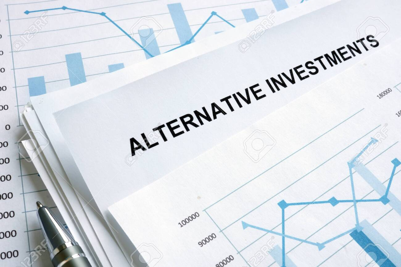 Documents about Alternative investments with financial charts. - 126607812
