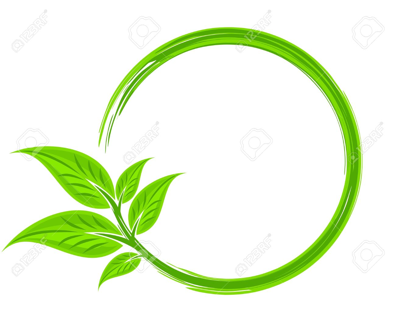 a round frame with tree leaves royalty free cliparts vectors and rh 123rf com vector leaf frame vector leaflet