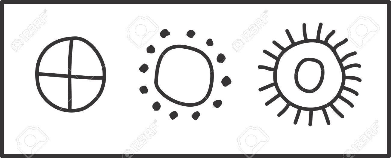 Ancient Slavic Symbols Of The Sun Royalty Free Cliparts Vectors
