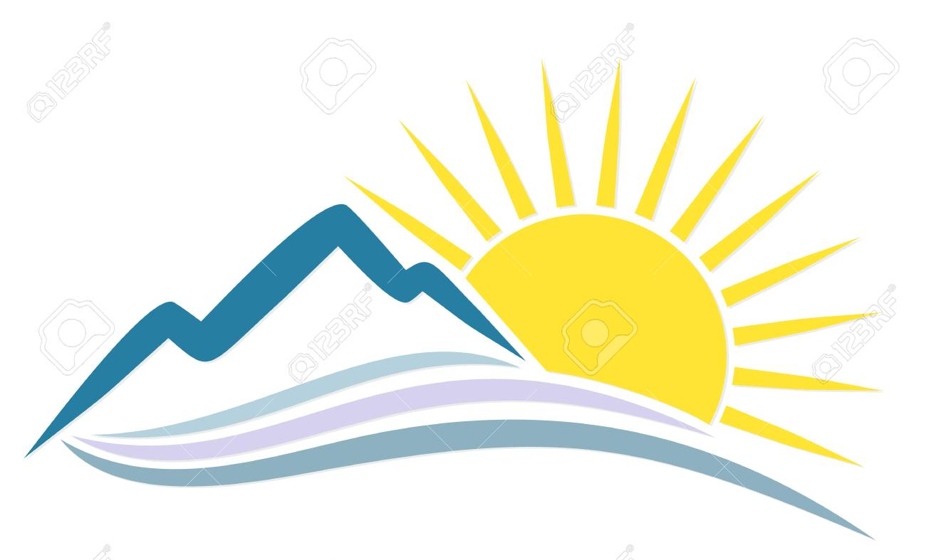 rising sun behind the mountains icon royalty free cliparts vectors rh 123rf com rising sun lagos nigeria rising sun logistics