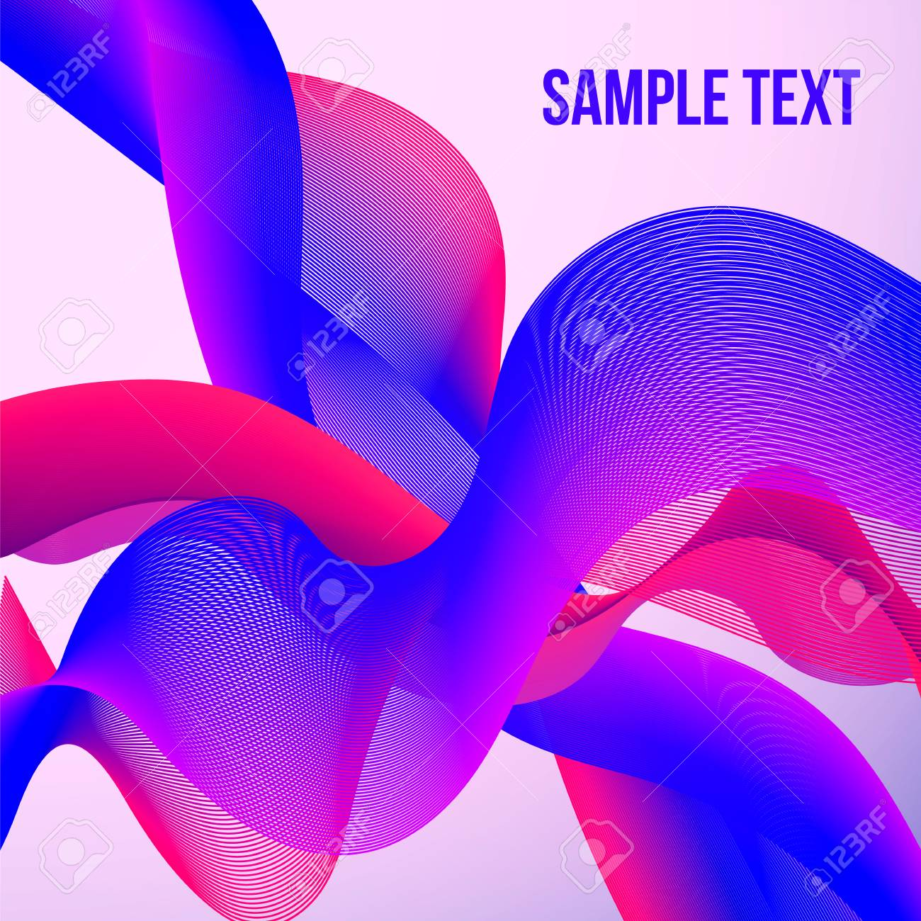 colorful moving wavy lines abstract bright wave background