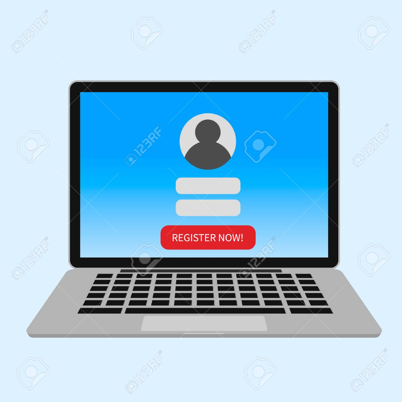 Registration New Account. Sign In Page On Computer Screen. Laptop.. Royalty  Free Cliparts, Vectors, And Stock Illustration. Image 102913170.