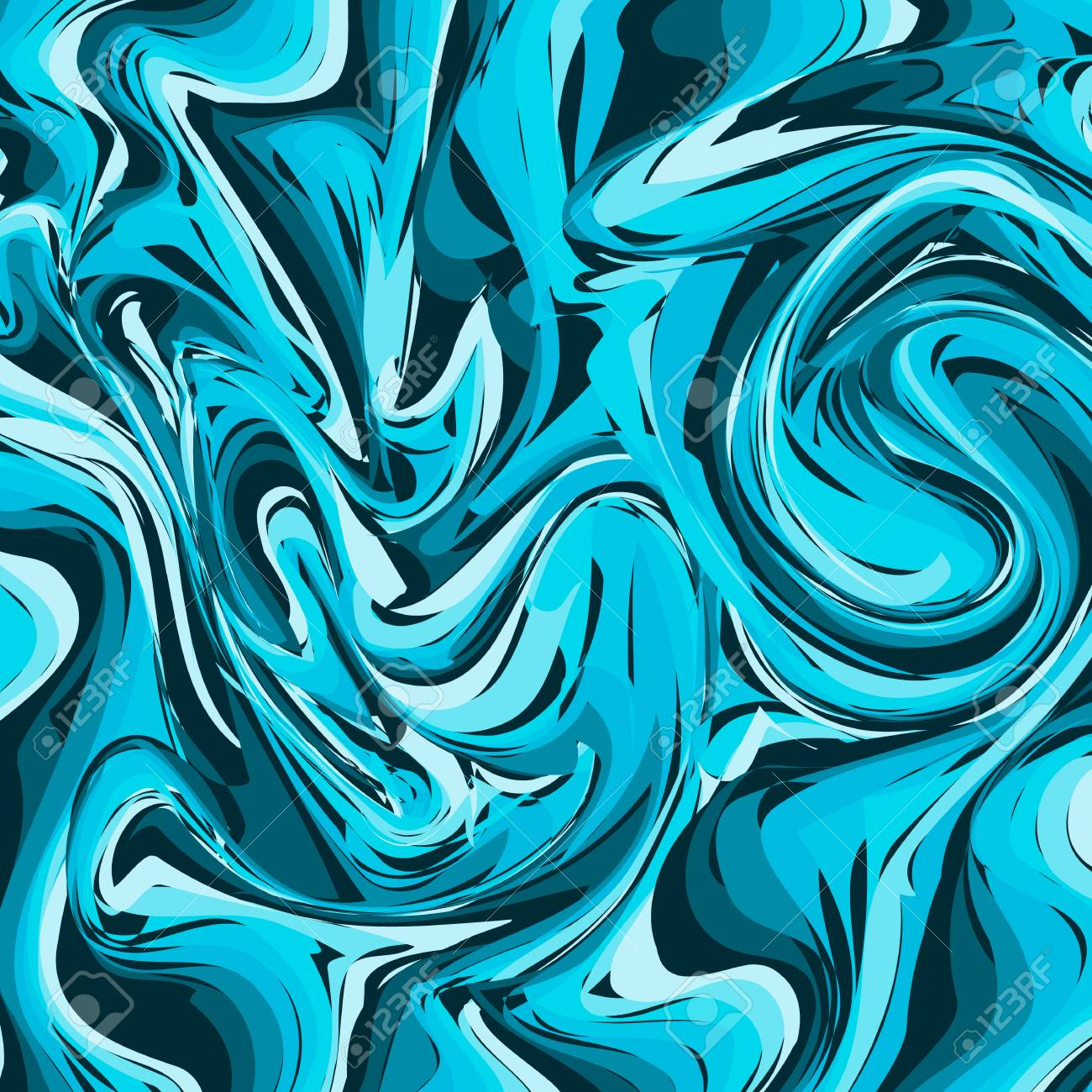 Dark And Light Blue Mixed Marble Texture Background Liquid Effect