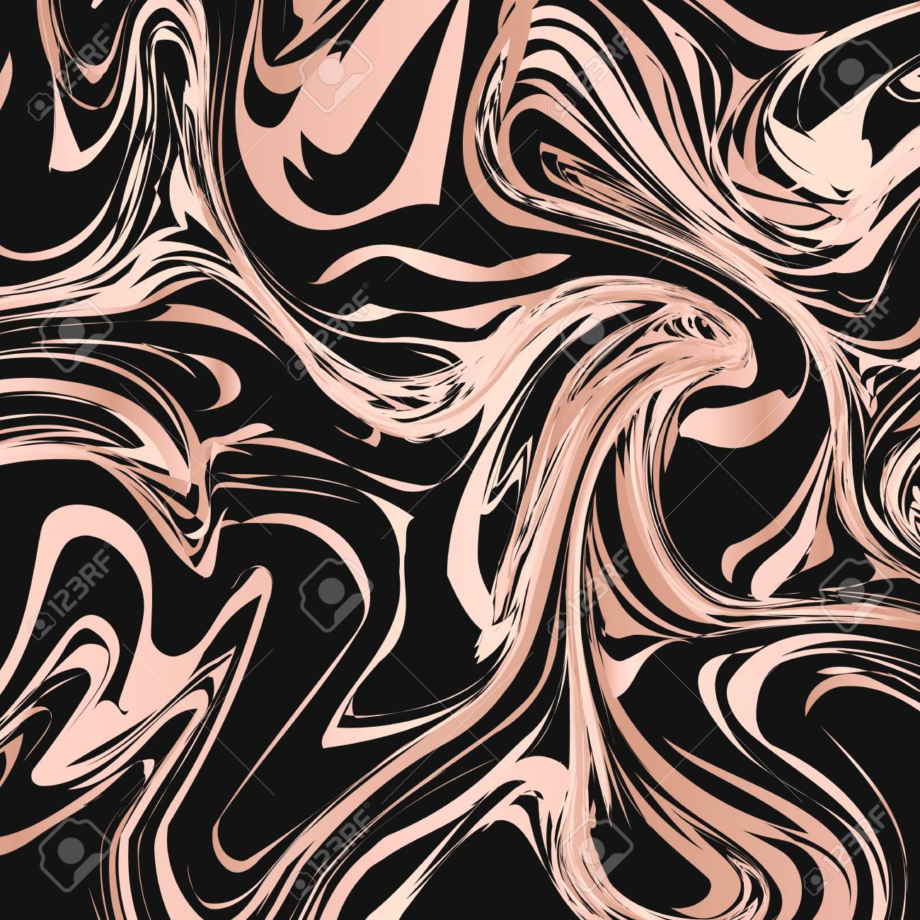 Liquid Flow Effect Abstract Background Black And Rose Gold Marble Royalty Free Cliparts Vectors And Stock Illustration Image 127098681