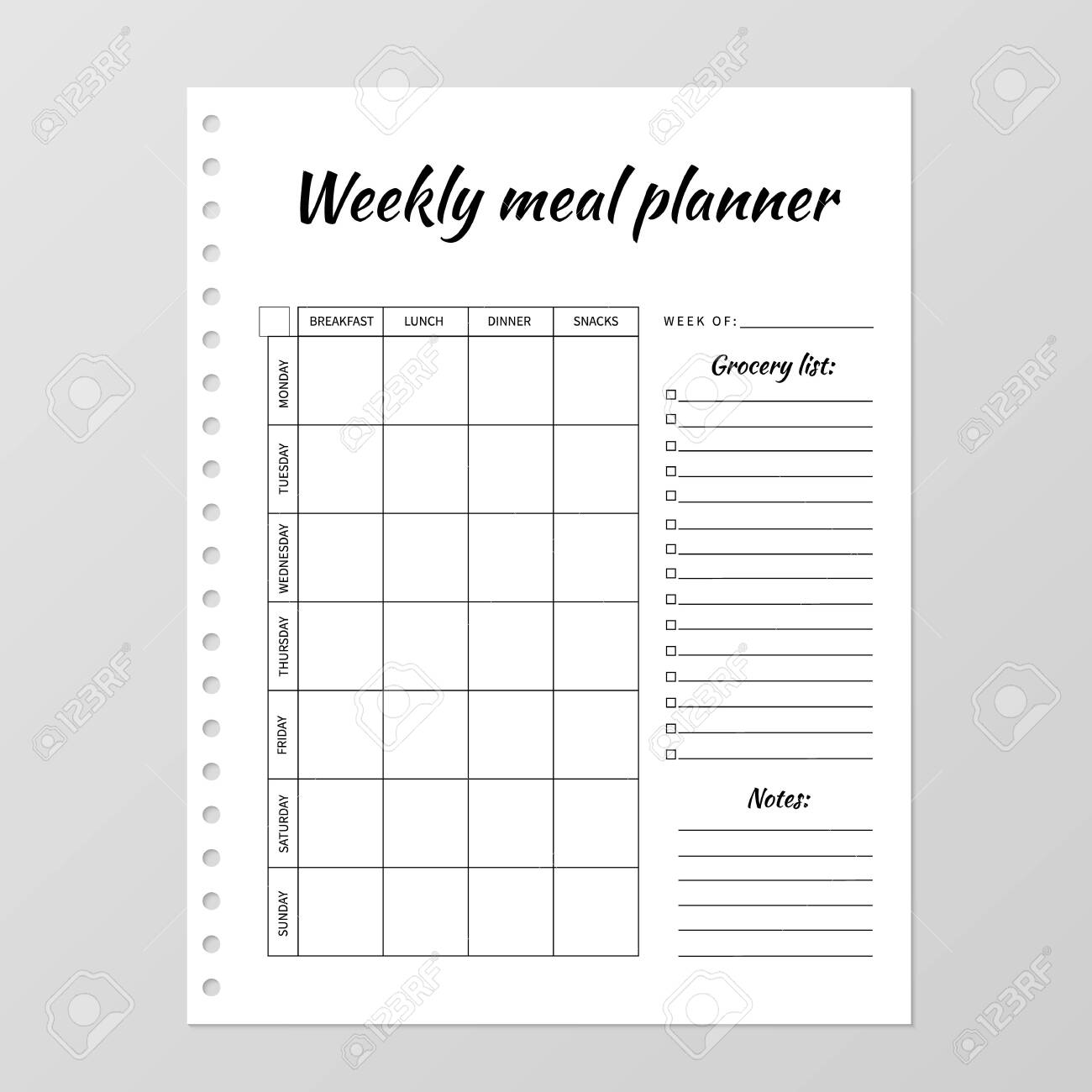 40 Weekly Meal Planning Templates ᐅ Templatelab 4
