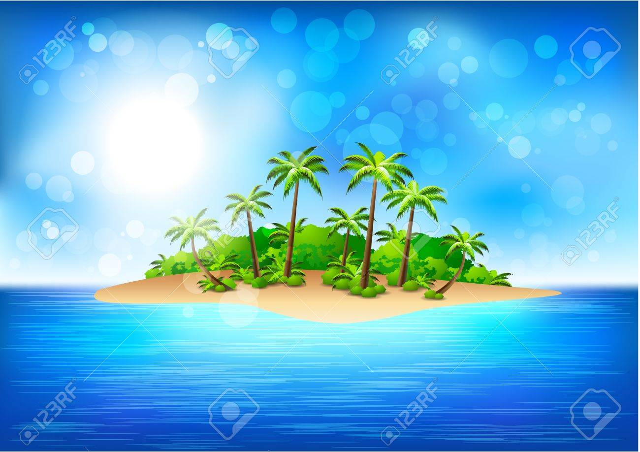 tropical island royalty free cliparts vectors and stock rh 123rf com island clipart images island clipart background