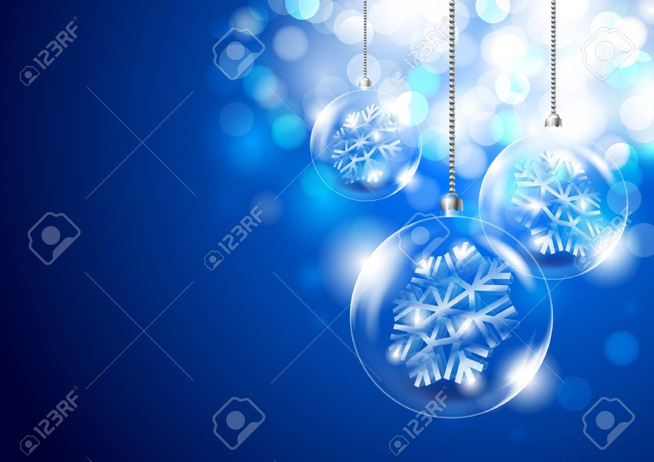 Christmas background with glass balls Stock Vector - 23291859