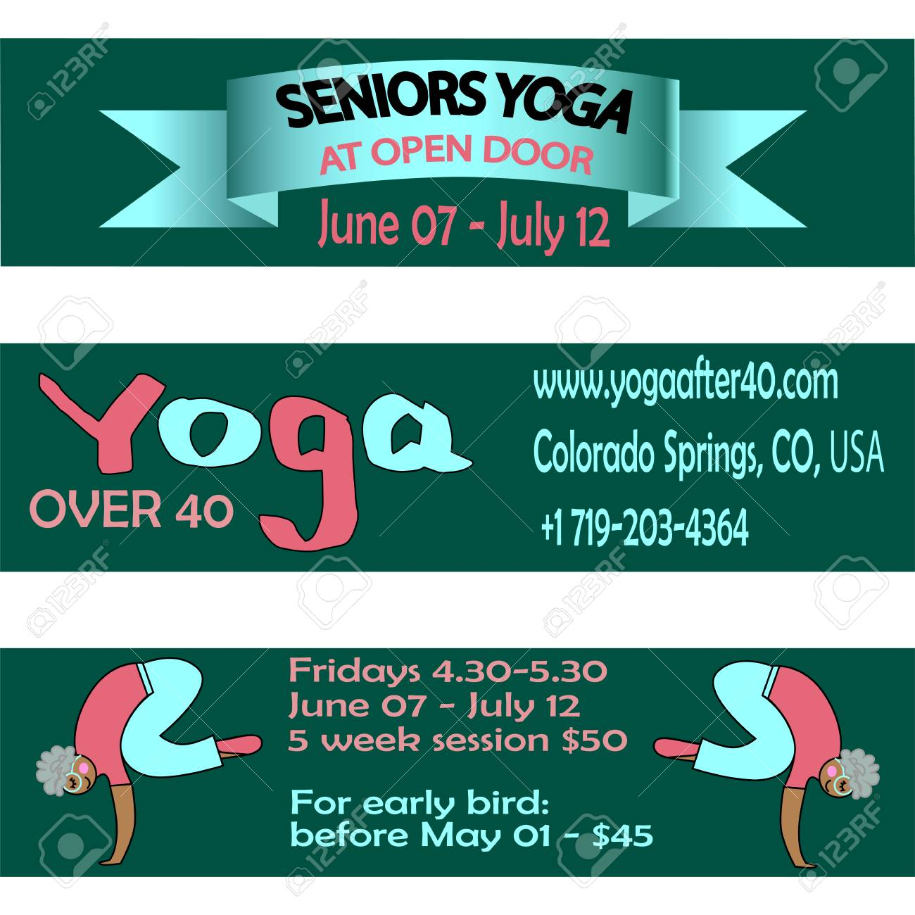Yoga Banner Design Illustration Royalty Free Cliparts Vectors And Stock Illustration Image 98465189