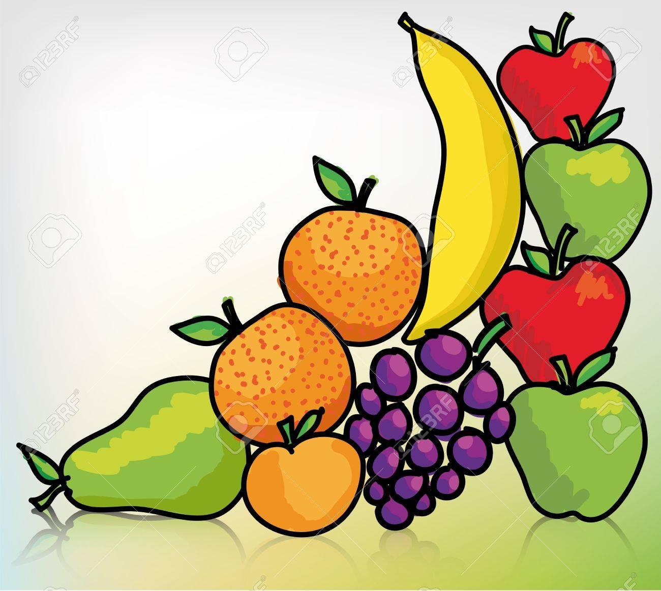Different fruit. Vector illustration Stock Vector - 11370663