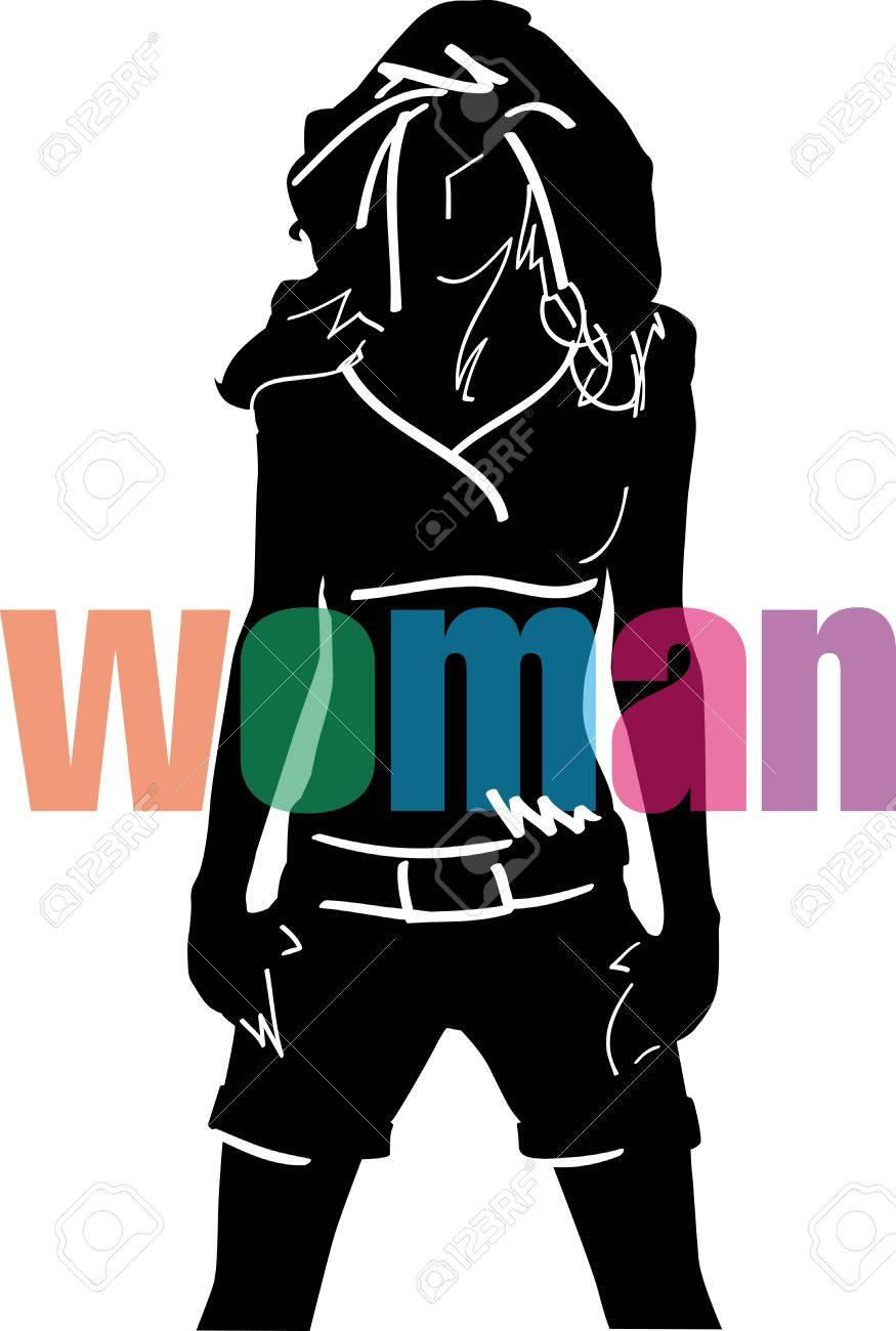 Sketch of fashion woman. Vector illustration Stock Vector - 11779923