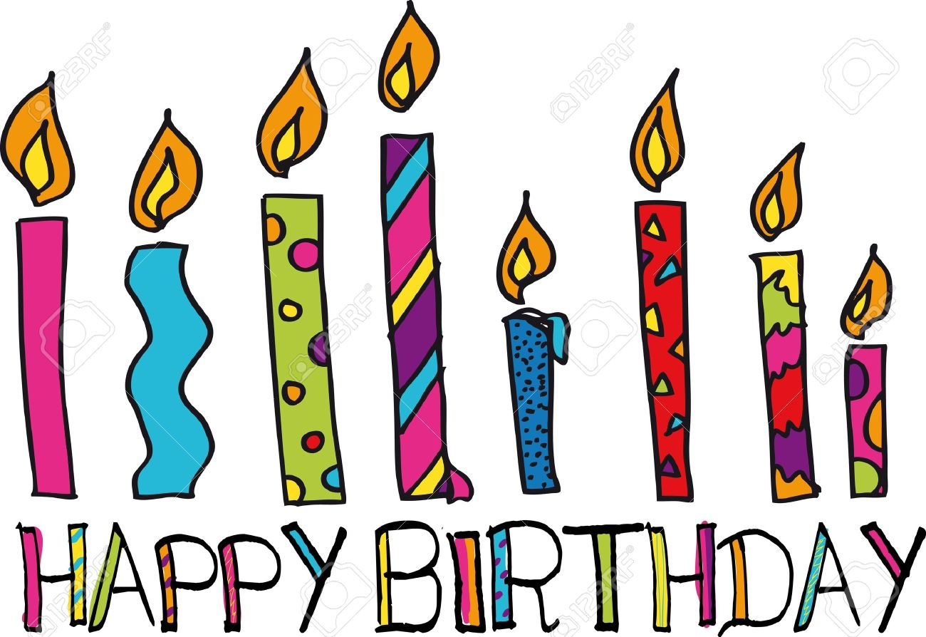 Happy Birthday Candles Vector Illustration Stock