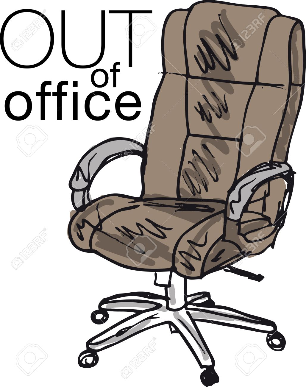 Top Out Of Office. Vector Illustration Royalty Free Cliparts, Vectors  OT73