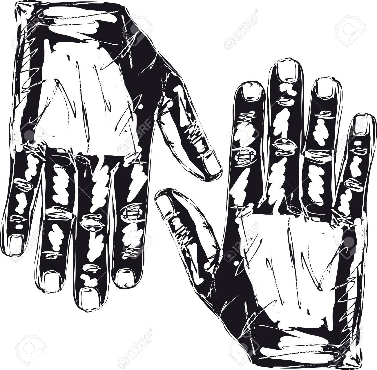 Sketch of right and left hand  Vector illustration Stock Vector - 12713002