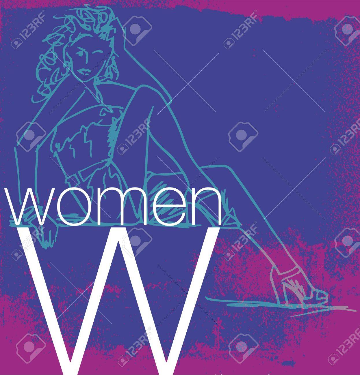 Cover Women. Vector illustration Stock Vector - 13214914