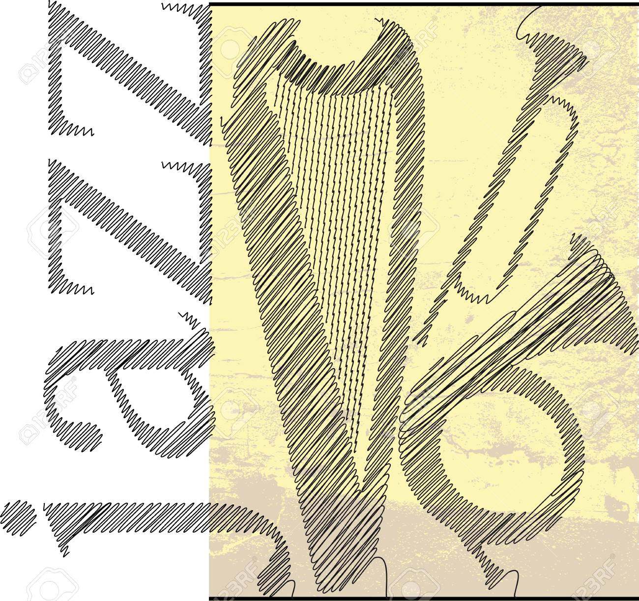 jazz sketch. Vector illustration Stock Vector - 13214939