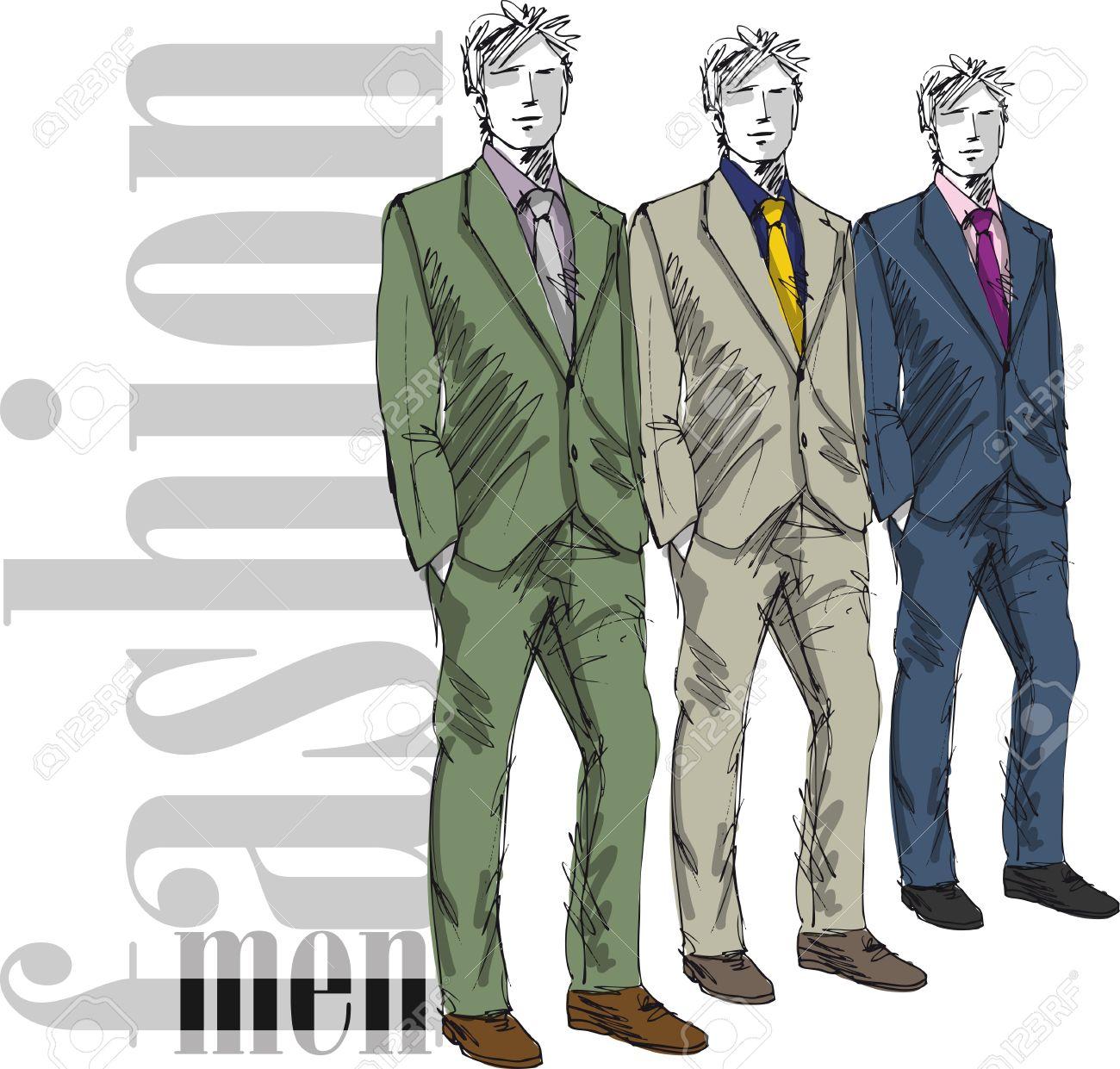 mannequin man Croquis de l\u0027homme de la mode belle. Vector illustration