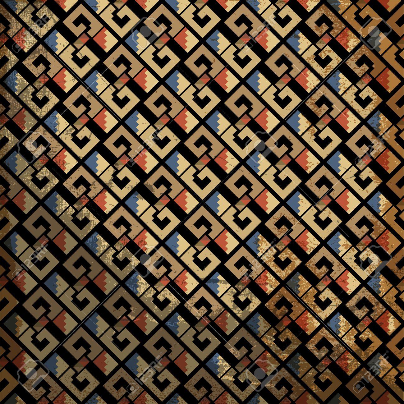Grunge inca pattern. Vector illustration Stock Vector - 13930071