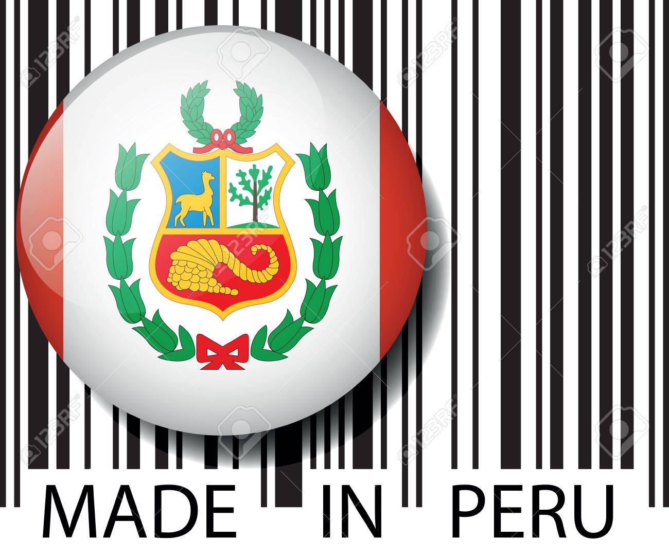 Made in Peru barcode. Vector illustration Stock Vector - 14394315