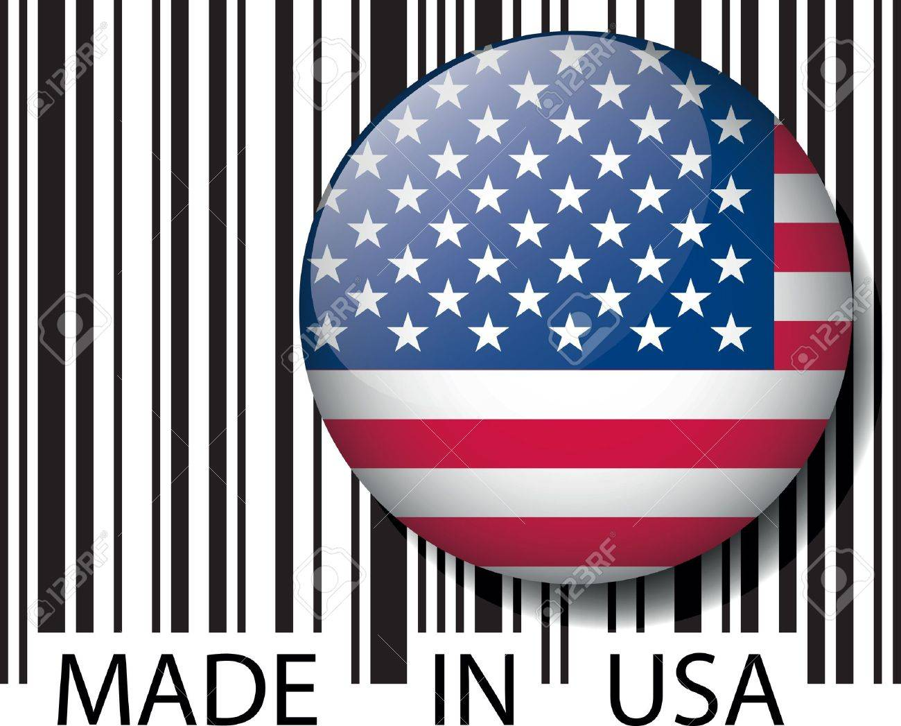 Made in USA barcode. Vector illustration Stock Vector - 14404848