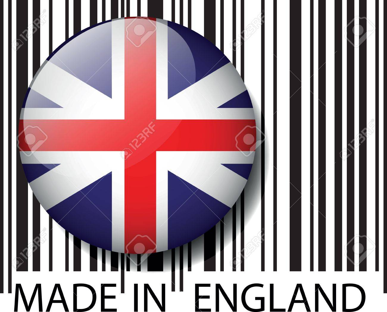 Made in England barcode. Vector illustration Stock Vector - 14394326