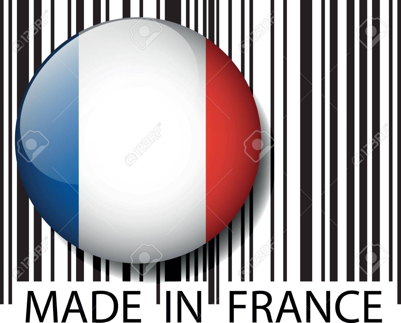 Made in France barcode. Vector illustration Stock Vector - 14394319