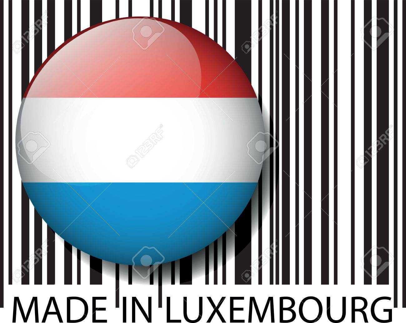 Made in Luxembourg barcode. Vector illustration Stock Vector - 14404834
