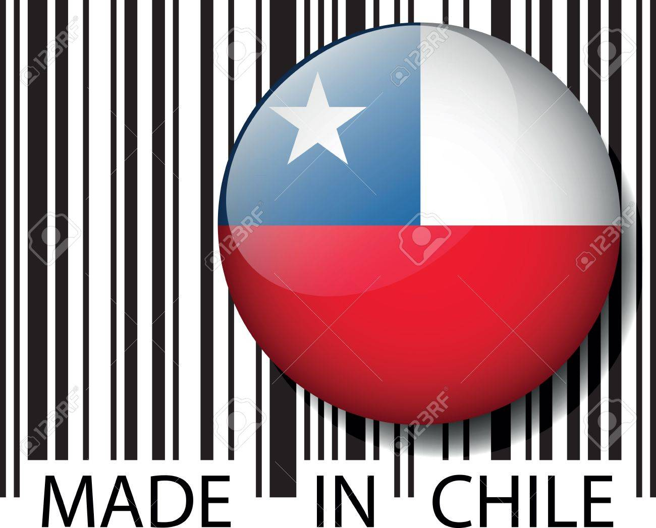 Made in Chile barcode. Vector illustration Stock Vector - 14457317