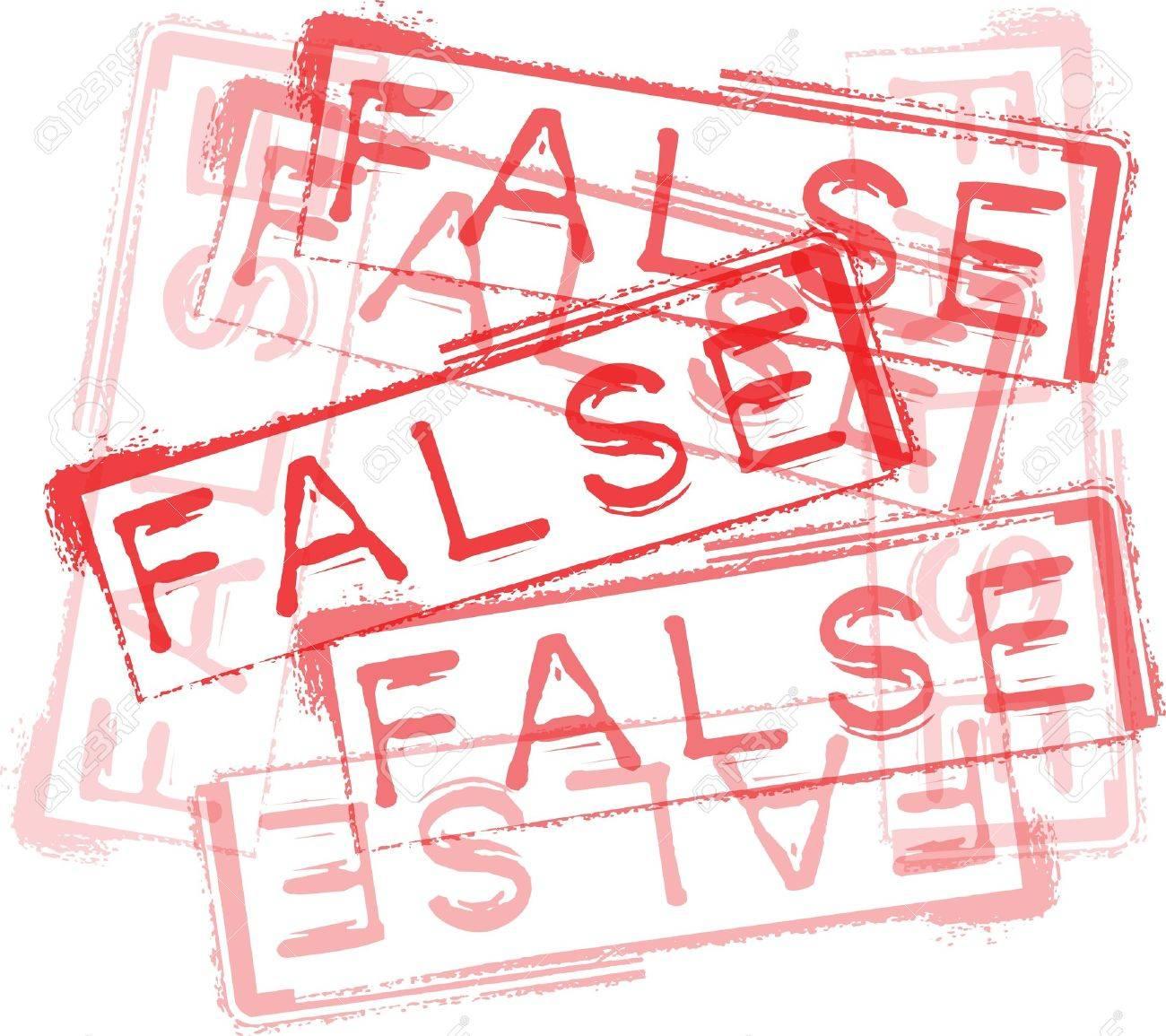 FALSE rubber stamp print. Vector illustration Stock Vector - 14657045