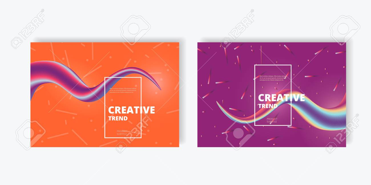 Creative design abstract flow shape and liquid wave vector background. - 124782970