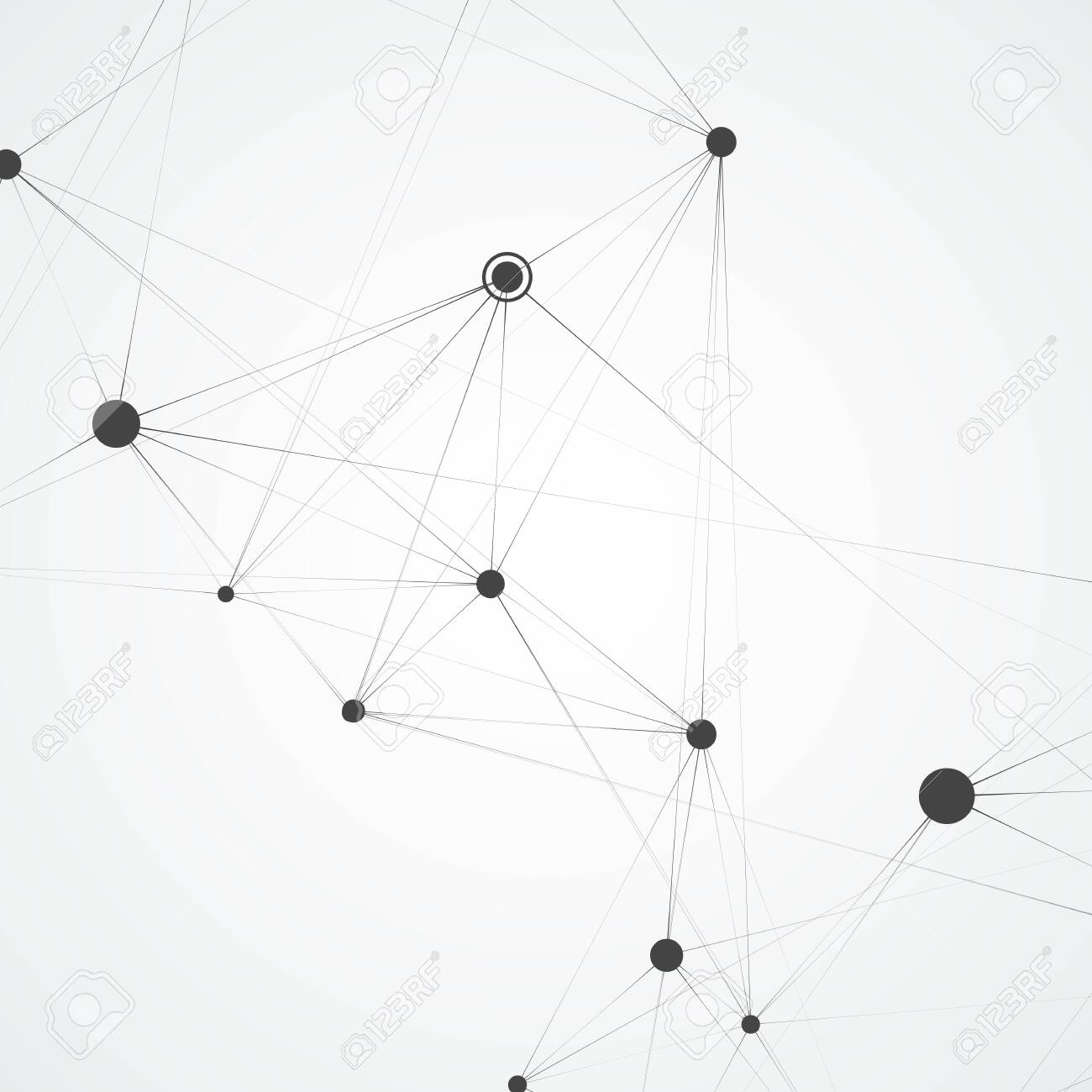 Connected structure lines and dots. Medical, technology, chemistry, science and communication background. Vector illustration. - 145610317