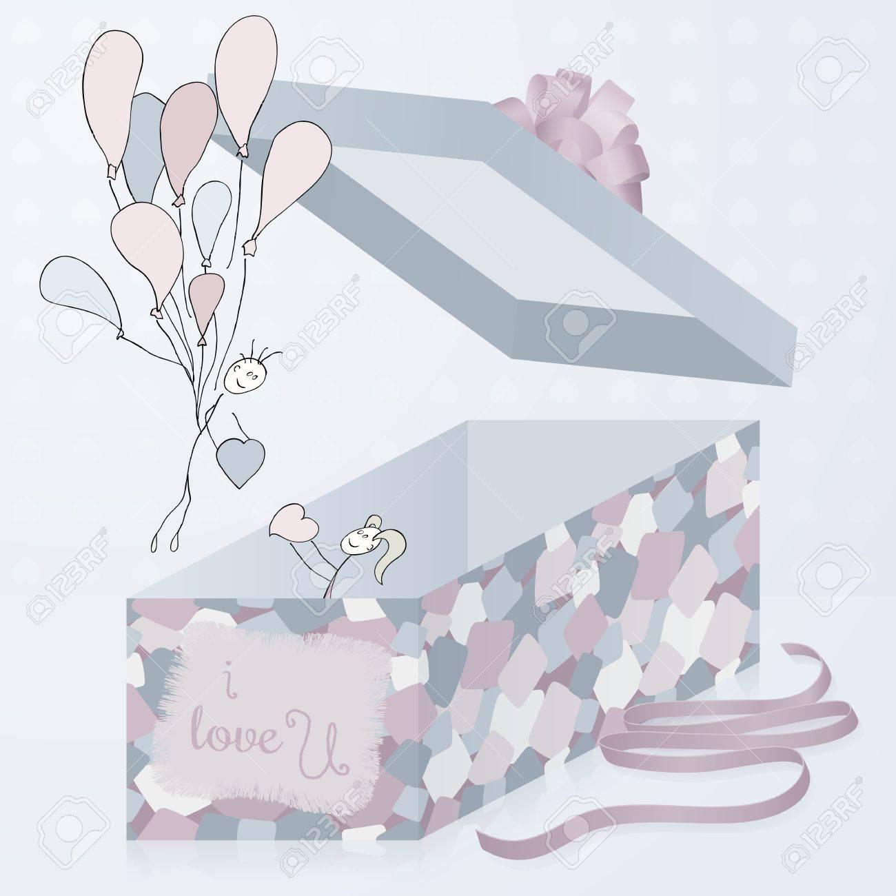 Eine Vorlage Geschenk-Box Mit Patchwork Textur, 3d. Mit Hand ...