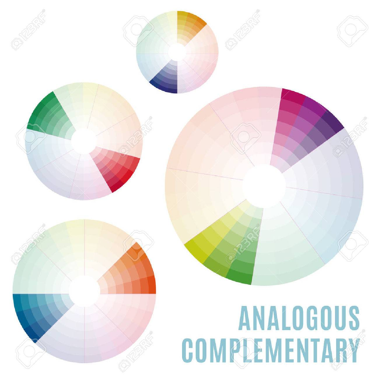 Psychology Of Color Perception Harmonies Colors Basic Analogous Complementary Set Representation In