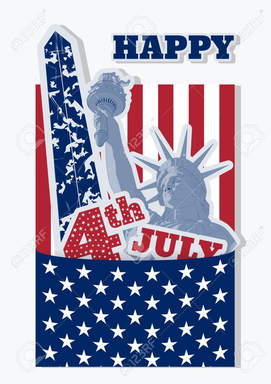 Festive Collage Design For Fourth Of July Independence Day Usa With