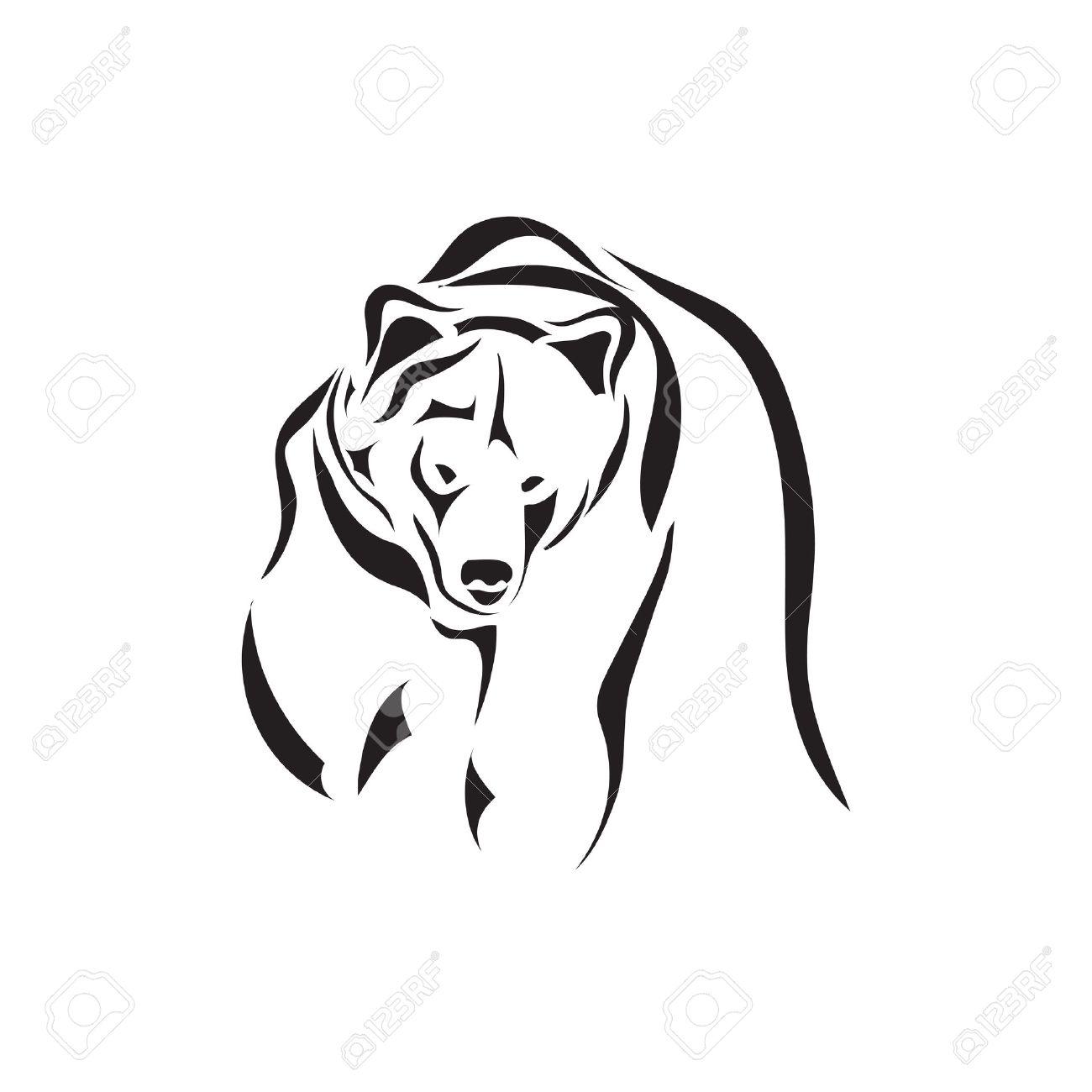 Медведь рисунок для тату