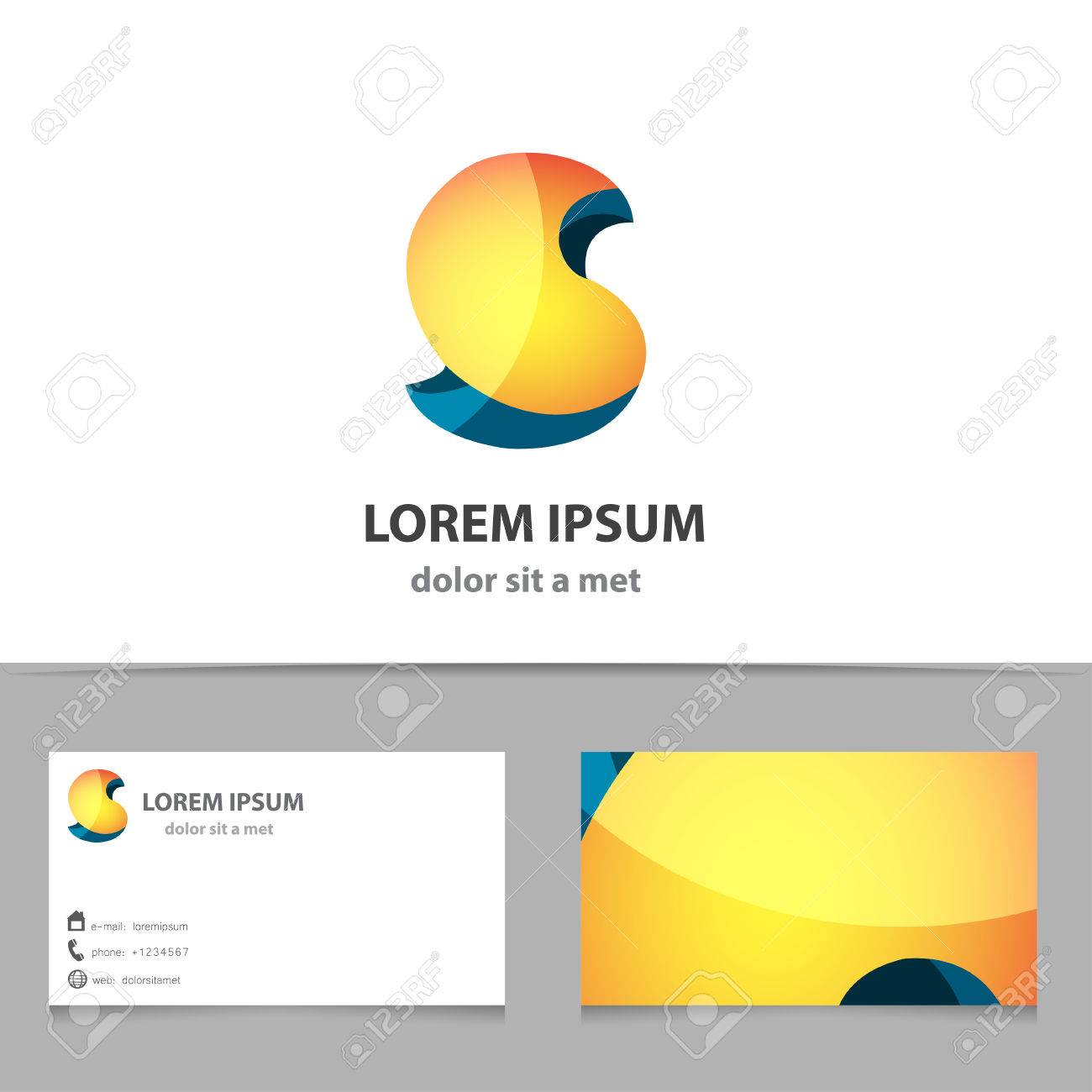 Vector Creative Abstract Shape For Company With Business Card ...