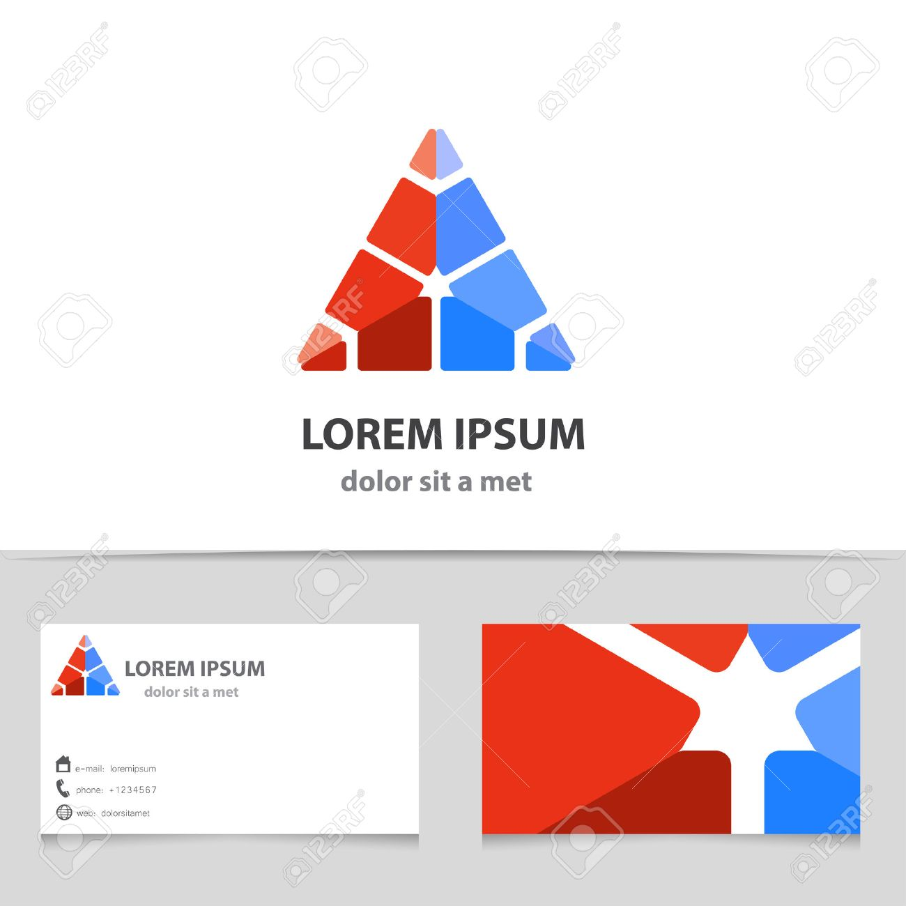 Vector abstract triangle icon with business card template modern vector abstract triangle icon with business card template modern design for your company creative magicingreecefo Gallery