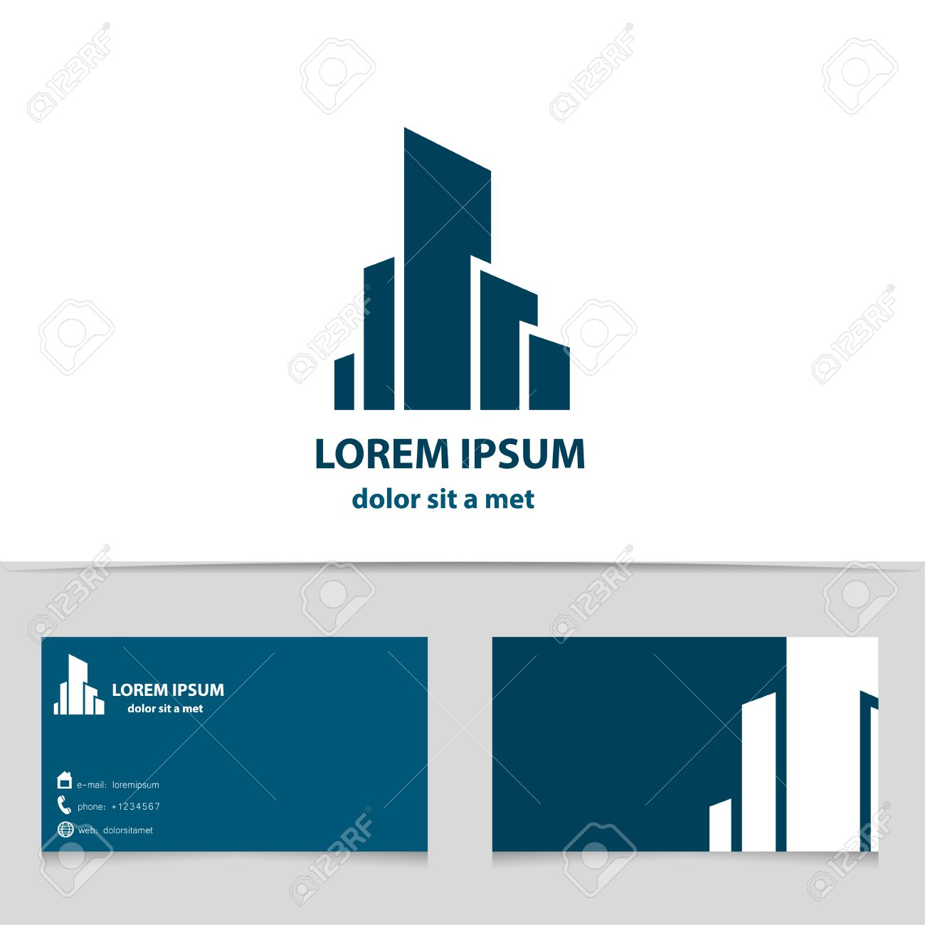 Building construction logo design for your company creative building construction logo design for your company creative logotype with business card template reheart Gallery