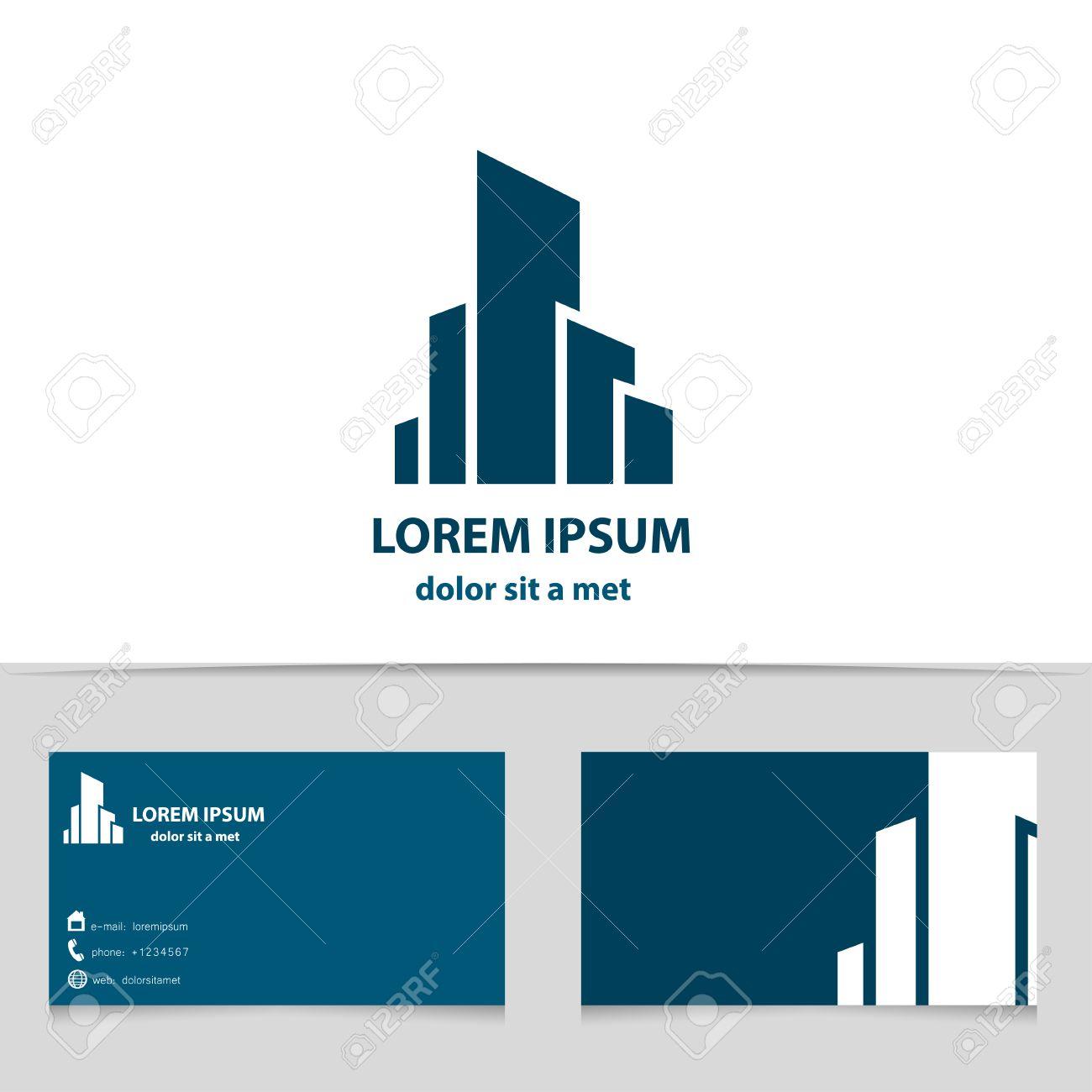 Der Bau Der Gebäude, Logo-Design Für Ihr Unternehmen. Creative ...