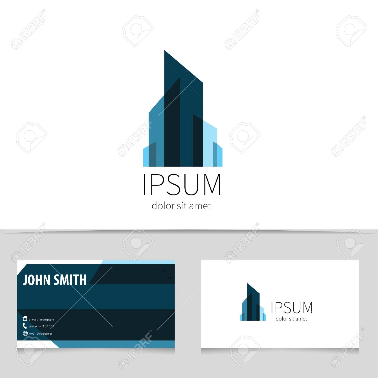 Creative Building Logo Design With Business Card Template. Trendy ...