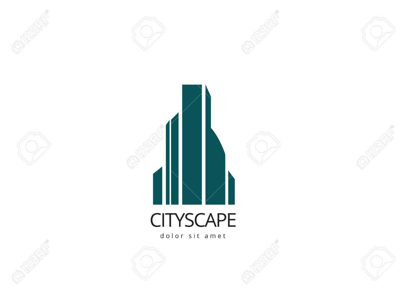 Plantilla De Diseño De Logotipo Abstracto Del Edificio. Logotipo ...