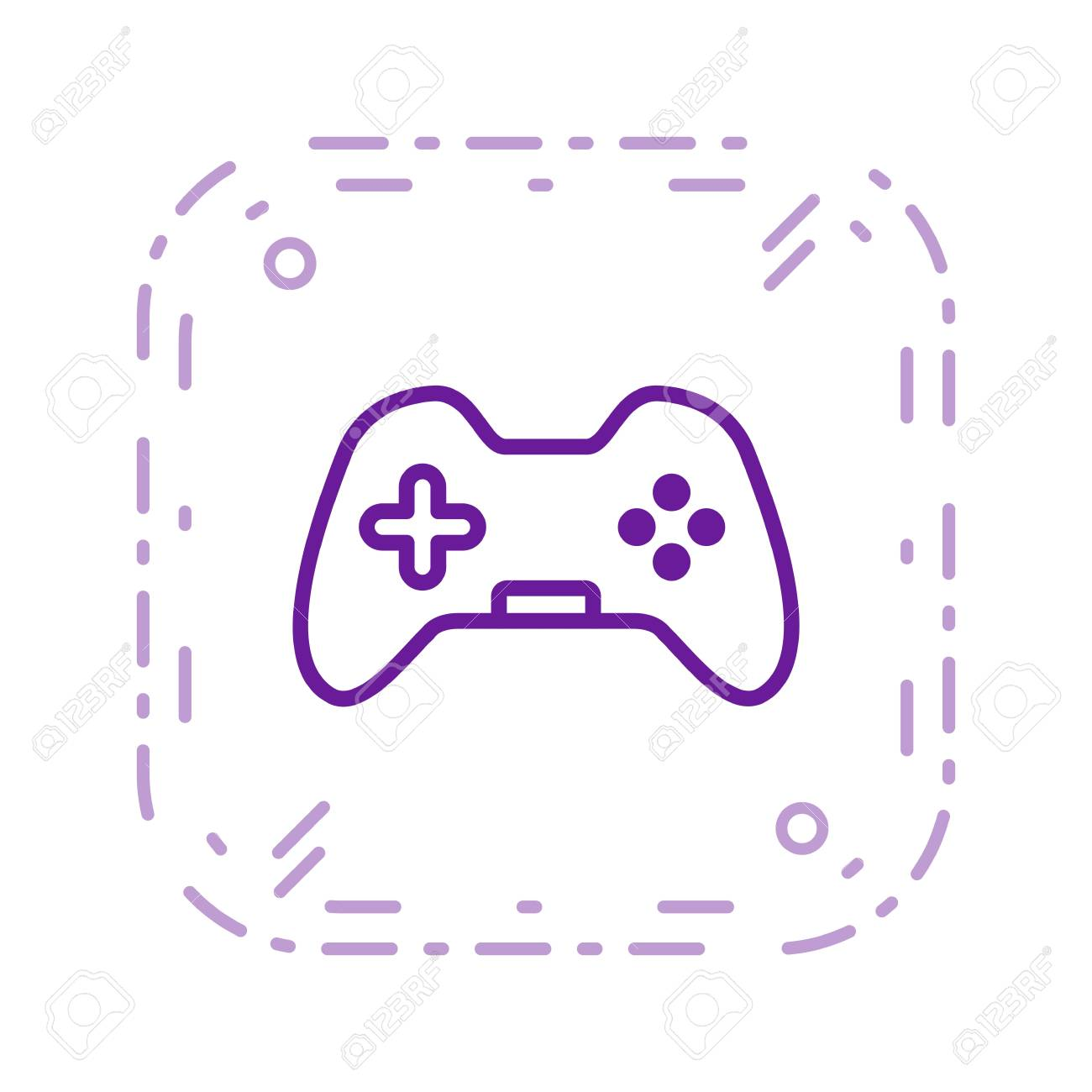 Control Pad Vector Icon Sign Icon Vector Illustration For Personal