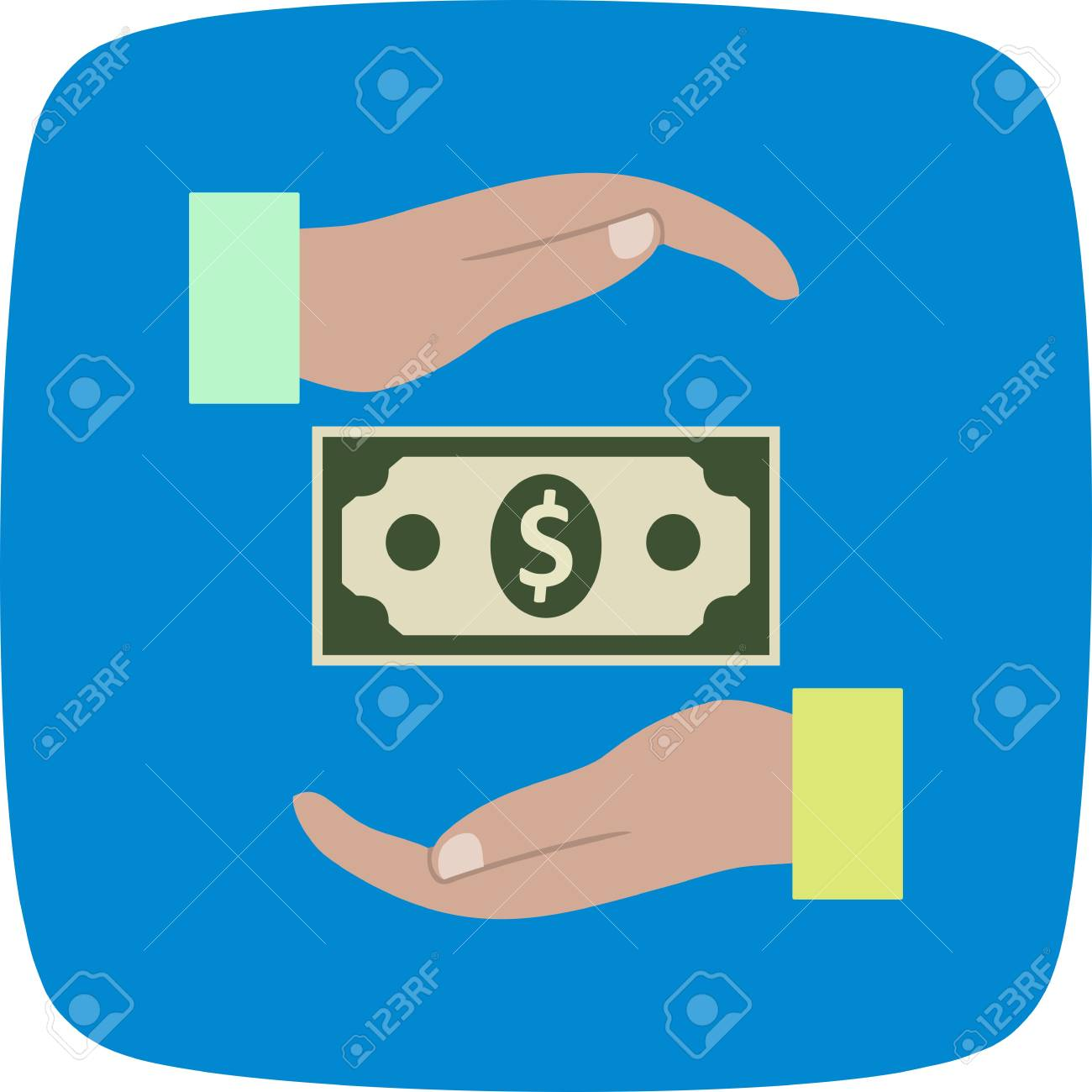 Bribe Vector Icon Sign Icon Vector Illustration For Personal