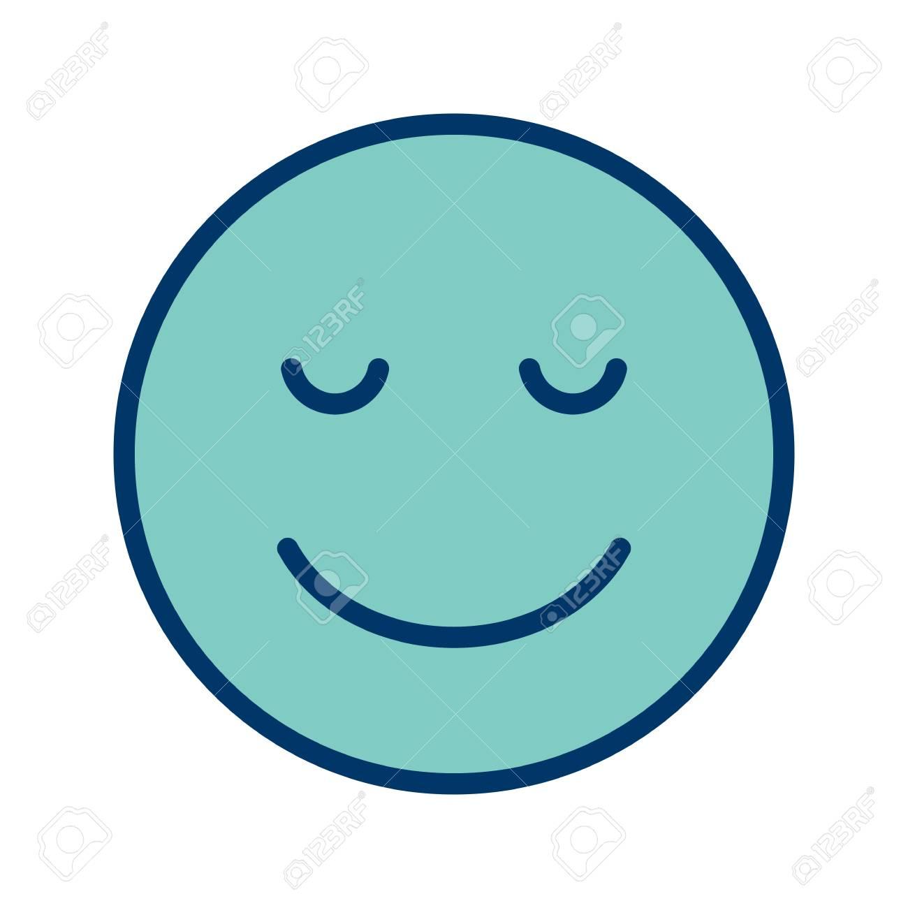 Calm Emoji Vector Icon Sign Icon Vector Illustration For Personal