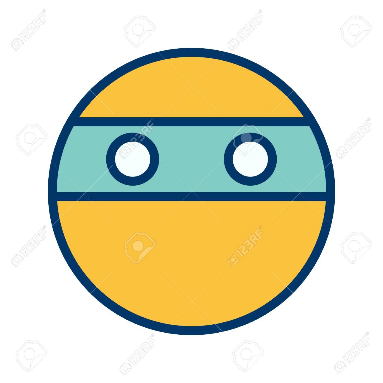 Ninja Emoji Vector Icon Sign Icon Vector Illustration For Personal
