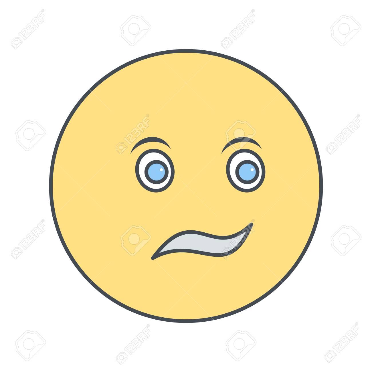 Confused Emoji Vector Icon Sign Icon Vector Illustration For