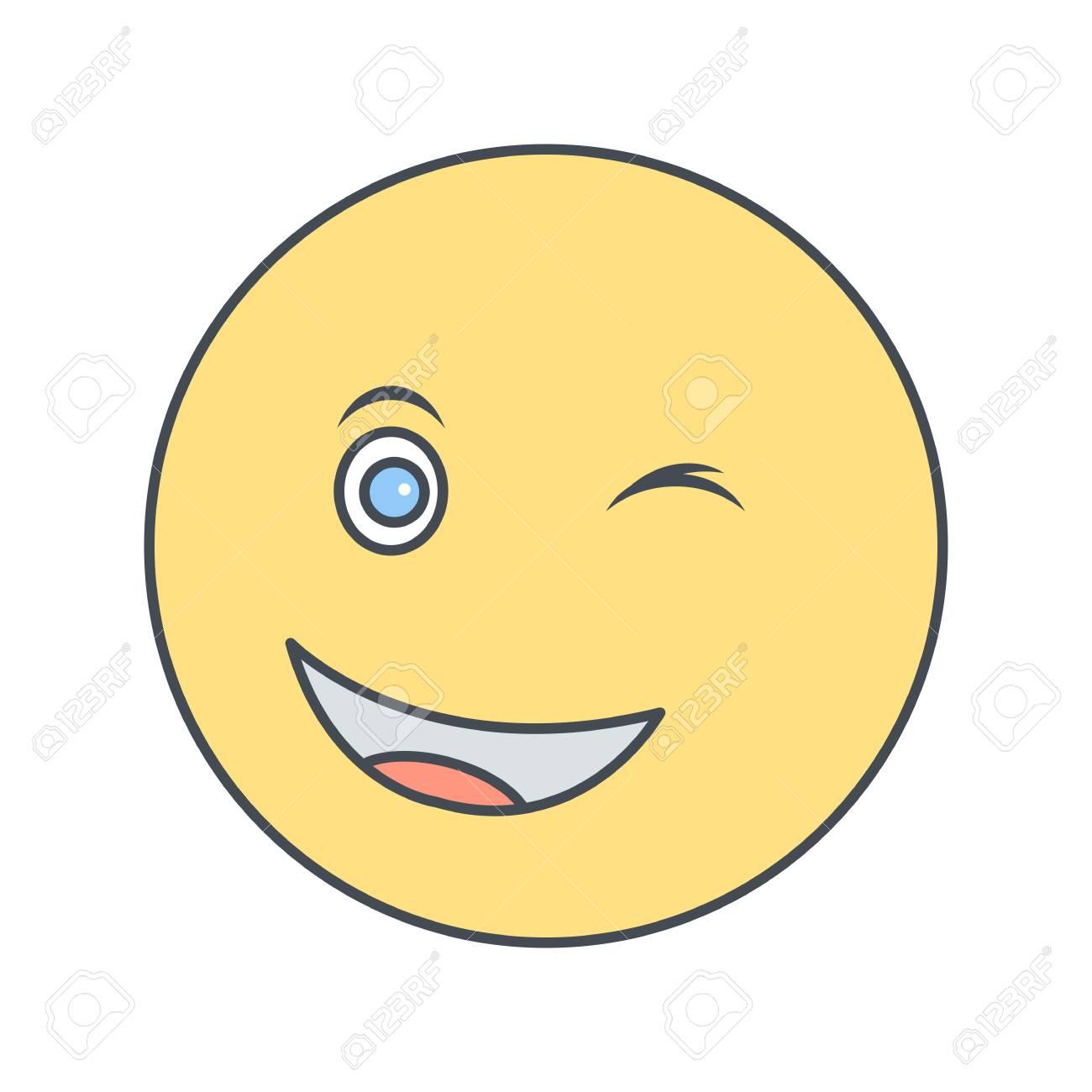 Wink Emoji Vector Icon Sign Icon Vector Illustration For Personal
